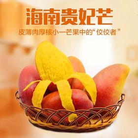 海南新鲜三亚贵妃芒果青皮芒果果肉香甜现摘现发5斤、8斤包邮