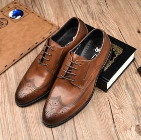 经典布洛克皮鞋雕花鞋牛皮商务皮鞋男鞋正装