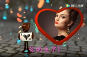 【情人节视频】女孩拿LOVE