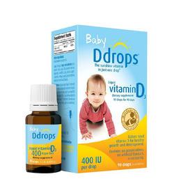 美国Ddrops婴儿童维生素D3滴剂新生儿宝宝VD补钙营养滴剂液
