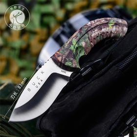 美国BUCK巴克户外装备刀具野营军刀防身武器便携迷彩高硬度小直刀