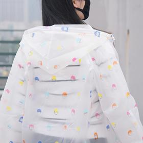 户外半透明成人EVA长款雨衣带帽  文具