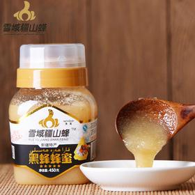 新疆伊犁尼勒克产雪域疆山峰黑蜂蜂蜜 纯天然无添加450g