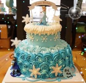 冰雪奇缘(双层)~儿童天然乳脂蛋糕