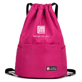 【依恋】男女通用运动健身包 简易户外旅行背包 大容量轻便抽绳双肩包收纳