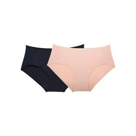 爱慕制造商 2条装 女式超细莫代尔内裤 莫代尔纤维清爽更细腻
