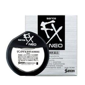 「用眼过度?来一滴」日本SANTEN-FX参天眼药水12ml/瓶  银色/金色/玫瑰色滴眼液  缓解眼疲劳充血A
