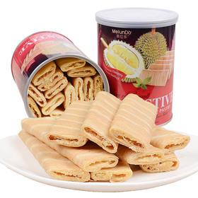 【包邮】 好吃到爆的美伦多榴莲夹心酥饼干菠萝夹心饼干铁罐258g×5罐