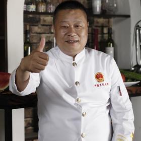 中国烹饪大师服 厨师服 (黑色/白色)