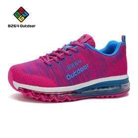 8264 时尚运动休闲鞋女2017春季新款系带透气减震耐磨气垫跑步鞋