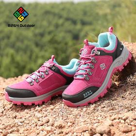 8264 户外耐磨徒步鞋女秋冬季低帮透气吸汗防滑减震登山爬山鞋子