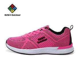 8264 女款跑步鞋2017春季透气减震耐磨运动休闲鞋舒适网鞋女