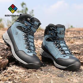 8264 户外磨砂牛皮高帮登山鞋男秋冬季透气减震耐磨爬山徒步鞋子
