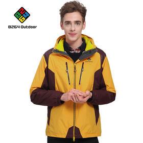 8264 户外连帽东丽面料冲锋衣男三合一两件套秋冬季防风登山服