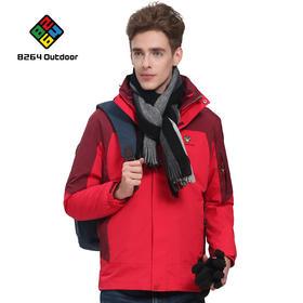 8264 户外冲锋衣男两件套三合一秋冬季防风防寒保暖野营登山服