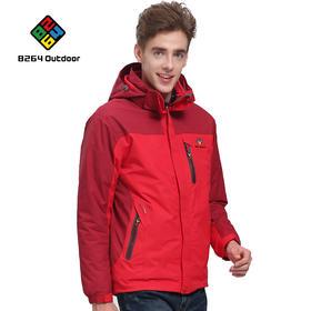 8264 户外冲锋衣男款三合一两件套秋冬季防风防寒防水透气