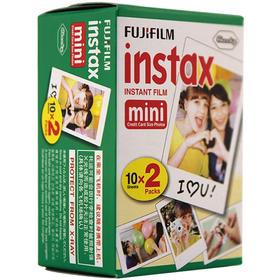 富士(FUJIFILM)INSTAX 一次成像相机 MINI相纸 白边 20张