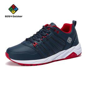 8264 时尚运动休闲鞋男2017春季新款透气耐磨减震防滑跑步鞋板鞋