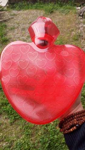 心形热水袋