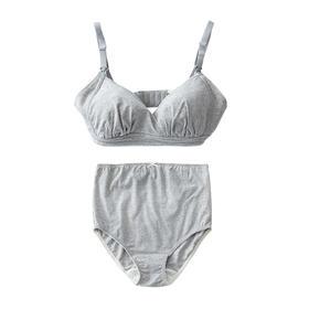 孕产妇哺乳文胸内裤套装 2色可选 纯棉透气 无钢圈防下垂