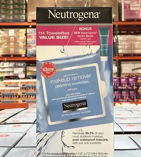 美国直邮 Neutrogena露得清卸妆湿巾 抽取式清洁卸妆巾114片