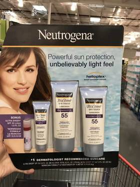 美国直邮 Neutrogena露得清 清爽轻透防晒乳液霜四件套装 SPF55