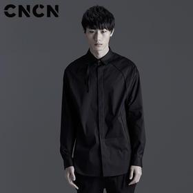 CNCN男装 春季潮流拉链邻个性衬衫 修身舒适暗黑衬衣 CNBC10502