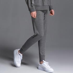 SYUSYUHAN设计师品牌 舒适羊毛混纺极简百搭春款小脚有型长裤