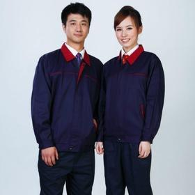 百年老屠现货工装113 经典款深蓝色双面卡 秋季长袖工作服上衣