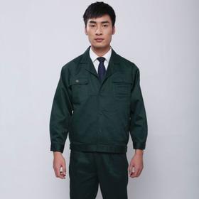 百年老屠现货工装101 经典款墨绿涤卡 秋冬长袖工作服套装