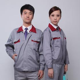 百年老屠现货工装134 热款灰色涤卡 秋冬长袖工作服套装