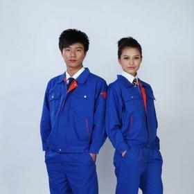 百年老屠现货工装142 热款蓝色纱卡 秋冬长袖工作服套装