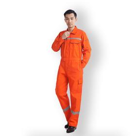 百年老屠970 现货工装 反光条连体服 经典橙色连体服