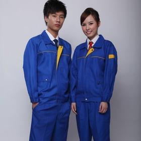 百年老屠现货工装114 新款蓝色涤卡 秋冬长袖工作服上衣