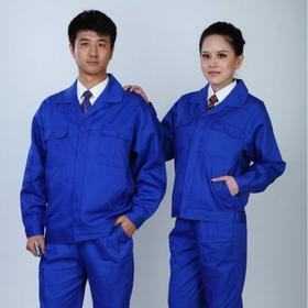 百年老屠现货工装105 新款蓝色涤卡 秋冬长袖工作服套装
