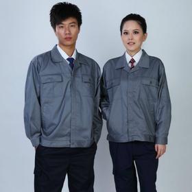 百年老屠现货工装111 经典款蓝色双面卡 秋冬长袖工作服上衣