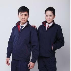 百年老屠现货工装124 经典款藏青色涤棉帆布 秋冬长袖工作服上衣