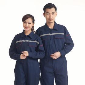 百年老屠968 现货工装 反光条连体服 经典藏青连体工作服