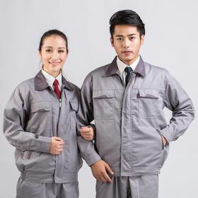 百年老屠现货工装615 经典灰色工装 秋冬长袖工作服套装