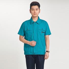 百年老屠现货工装957 经典款绿衣蓝裤 夏季短袖工作服套装