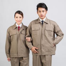 百年老屠现货工装631 简洁卡其色工装 秋冬长袖工作服套装