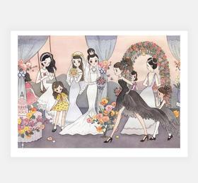 限时八折 | 儿力力签名版画 < The Little Brides >