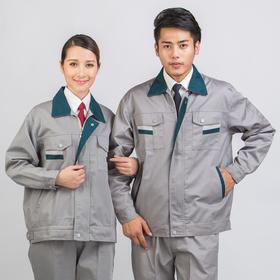 百年老屠现货工装636 时尚灰色拼接工装 秋冬长袖工作服套装