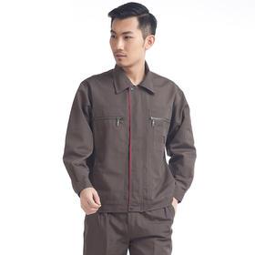 百年老屠现货工装656 热款棕色涤棉 秋冬长袖工作服套装