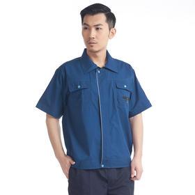 百年老屠现货工装958 经典款青衣蓝裤 夏季短袖工作服套装