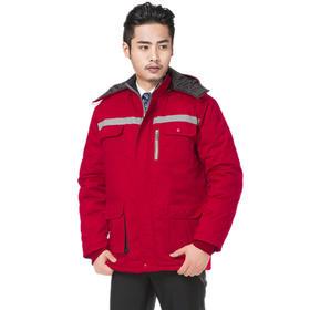 百年老屠现货工装829冬季加厚丝绵棉衣工作服 红色工作服棉袄上衣