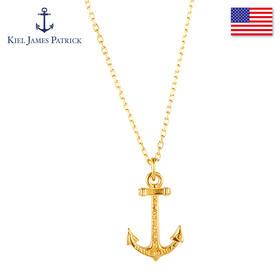 KJP美国原装进口 时尚甜美金色镀金黄铜船锚吊坠女士项链 Hope Necklace