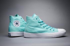 匡威女款经典二代薄荷绿 高低帮帆布鞋