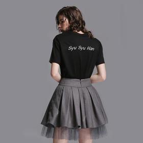 SYUSYUHAN独立设计师女装品牌 高腰显瘦拉长腿网纱减龄蓬裙短裙