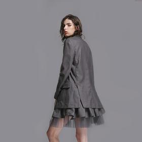 SYUSYUHAN独立设计师女装品牌 精工细做绣五角星高街酷帅两色西装